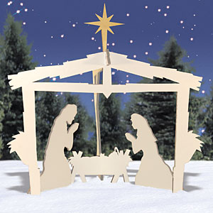 Outdoor Nativity Scene Patterns