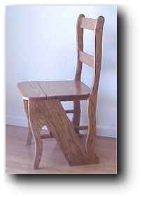 Wooden Chair That Turns Into A Step Stool