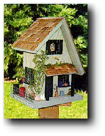 Decorative Bird Houses & Bird Feeders Wood Plans