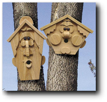 Bird House Plans - Houses for Wrens, Swallows, Bluebirds, Purple