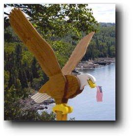 Flying Eagle Sentry Woodworking Plans.