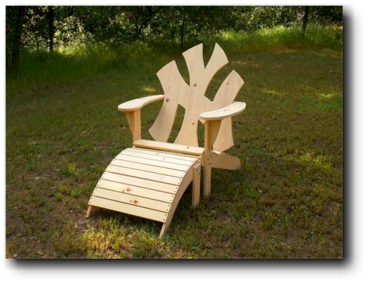 adirondack chair leg rest plans