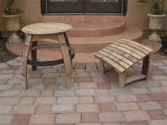 wine barrel adirondack footrest wood plans