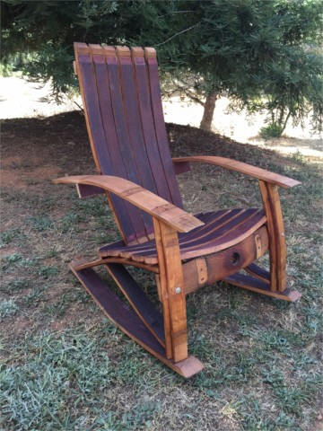 Charmant From Our Wine Barrel Creations Collection: The Wine Barrel Or Whiskey  Barrel Barrel Adirondack Rocking Chair   Large Size Woodworking Plans,  #5854.