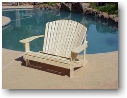 adirondack loveseat chair wood plans