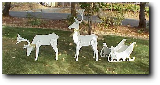 Small Wood Reindeer Patterns