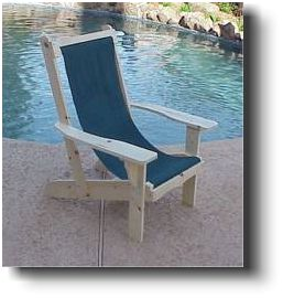 adirondack sling chair wood plans