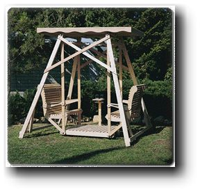 Canopy Glider Swing woodworking plans