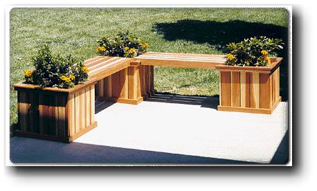 Wooden Planter Bench Plans