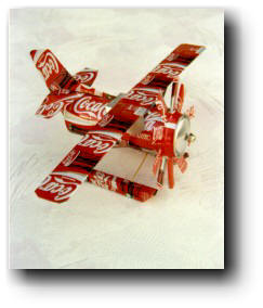 Free aluminium can plane patterns lena patterns for Aluminum can crafts patterns