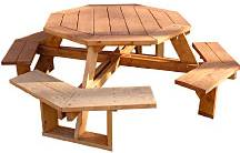 plans for octagon picnic tables free