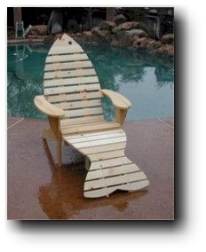 adirondack fish chair plans