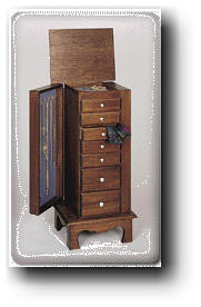 Jewelry and Lingerie Chest Woodworking Plans