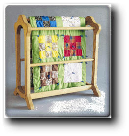 Wooden play: quilt rack woodworking plans