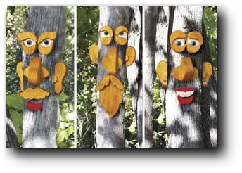 Tree Faces woodworking plans