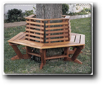 tree seat woodworking plans