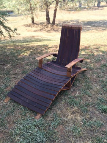 From Our Wine Barrel Creations Collection: The Wine Barrel Or Whiskey  Barrel Barrel Adirondack Lounge Chair Woodworking Plans, #5856.