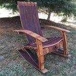 Wine Barrel Adirondack Rocking Chair Woodworking Plans & 1 Hardware Kit