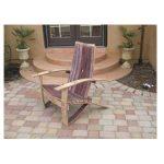 Wine Barrel Adirondack Chair Plans (Large Size) #5851