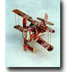 Bi-Plane Aluminum Can Airplane Craft Plan #1005