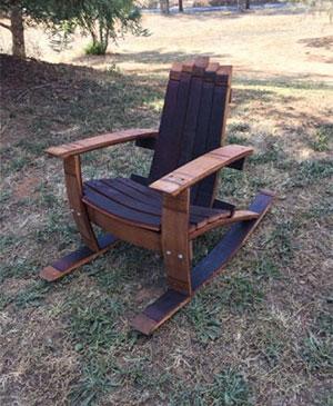 super popular a964b 4425a Wine Barrel Adirondack Child's Rocking Chair Woodworking Plans