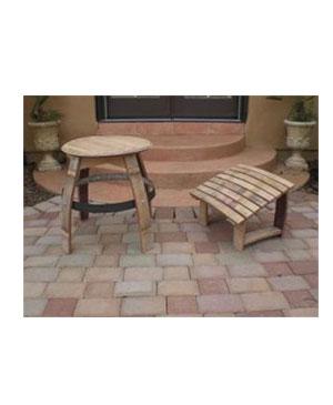 Pleasant Wine Barrel Adirondack Footrest Table Stool Plans Beatyapartments Chair Design Images Beatyapartmentscom